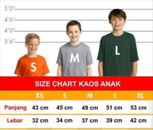 size chart kaos semarang semoc - ukuran kaos anak